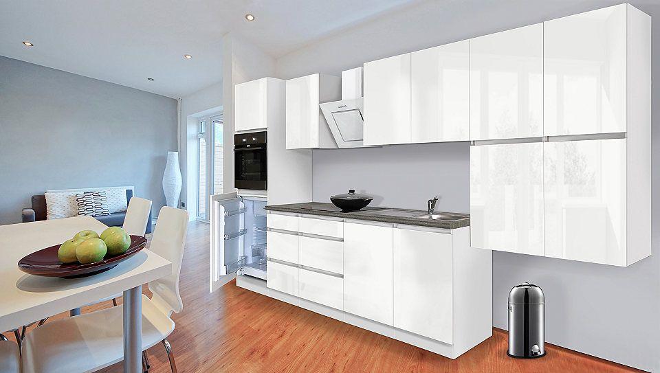 Respekta Küchenzeile mit E-Geräten »Boston«, Breite 370 cm Jetzt - küchenzeile 160 cm
