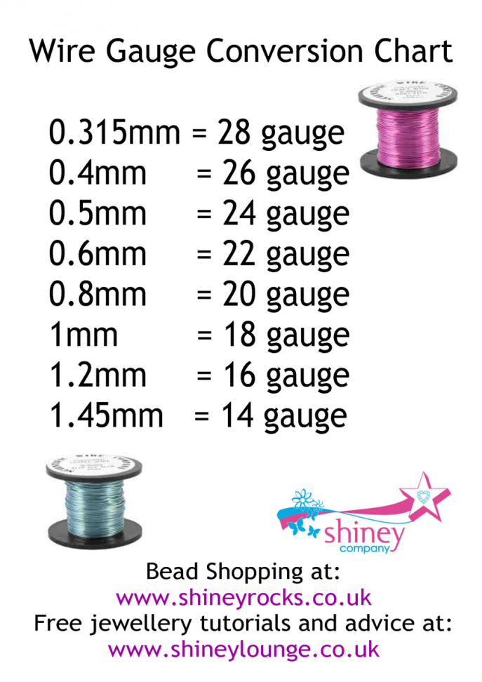 Image result for gauge to mm conversion beading pinterest gauges image result for gauge to mm conversion greentooth Choice Image