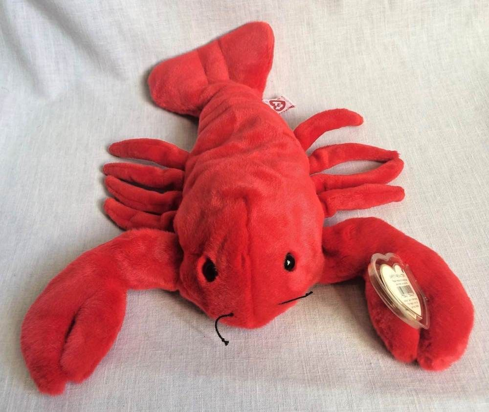 Ty Pinchers Red Lobster Beanie Buddies 13 Stuffed Toy Heart Tag