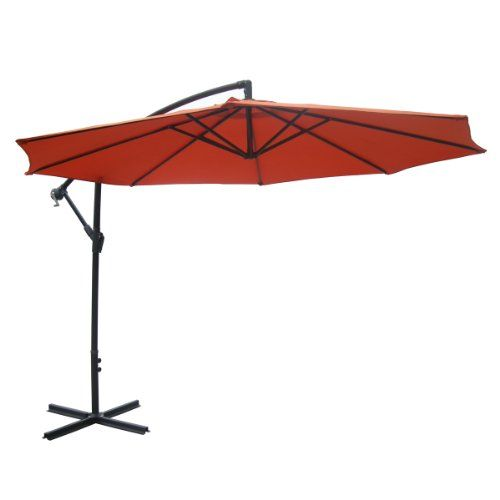 10 Ft Orange Aluminum Patio Offset Umbrella South Mission Http Www Amazon Com Dp B006uv0o22 Ref Cm Sw Offset Patio Umbrella Patio Rectangular Patio Umbrella