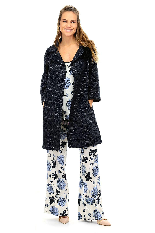 reputable site 6c02f bb3cf Cappotto Blu Twin SET | TWIN SET Simona Barbieri Clothing ...