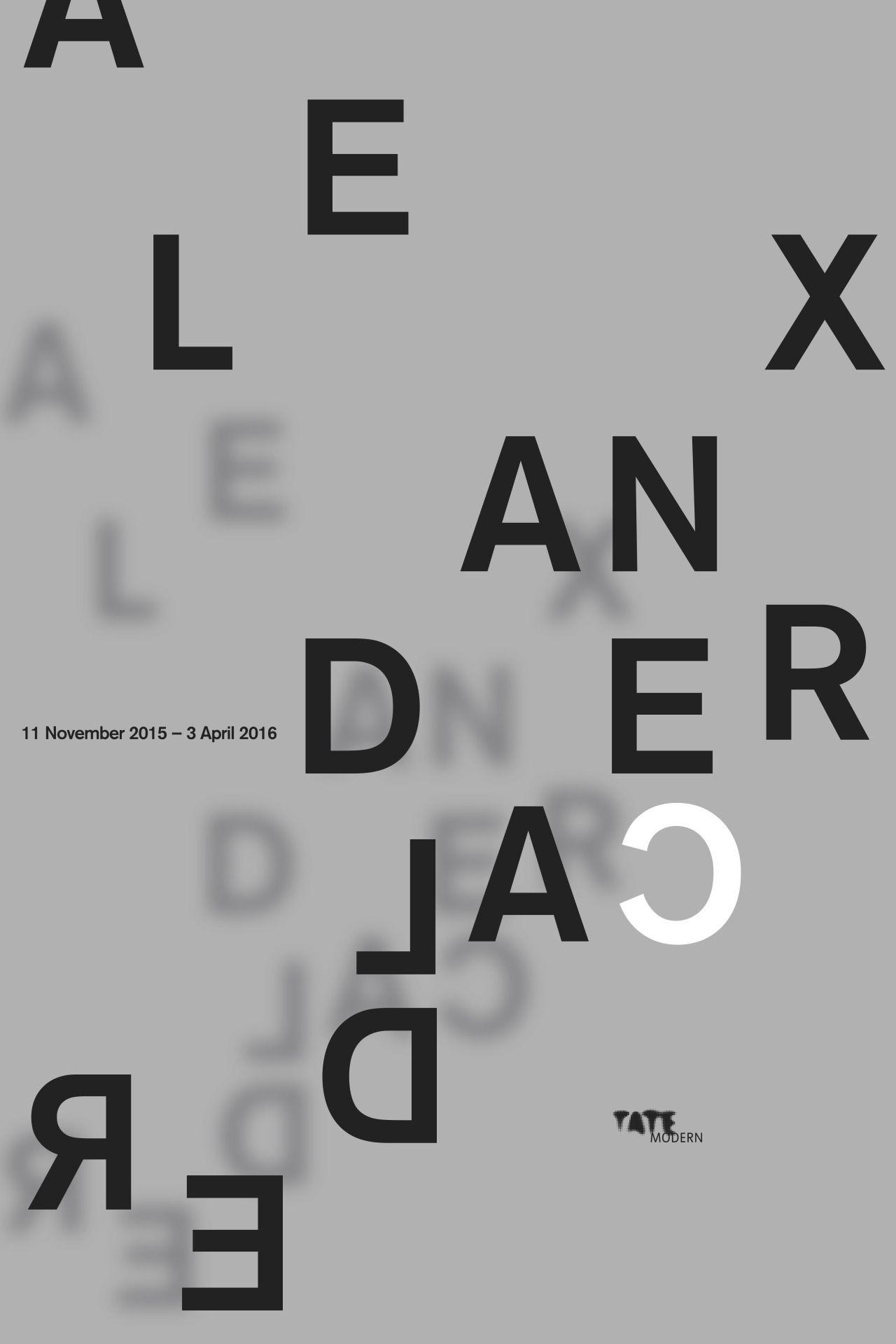 Tate Modern - Alexander Calder 2015-2016 Exhibition Poster