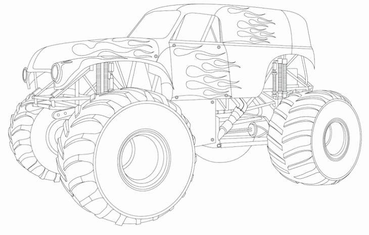 Grave Digger Coloring Page Elegant Line Grave Digger Truck Coloring Page To Print In 2020 Monster Truck Coloring Pages Truck Coloring Pages Coloring Pages For Boys