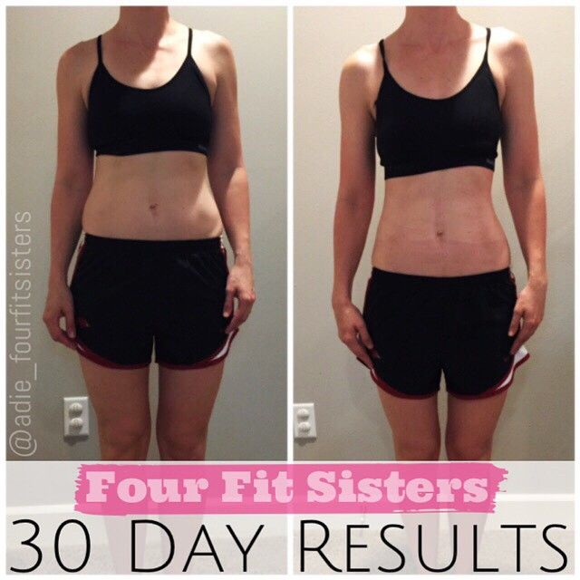Before and After of one of the 30 Day challengers working with Adie from Four Fit Sisters.