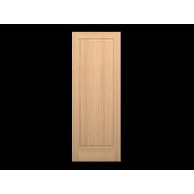 Karona Wood 1 Panel Slab Interior Door Species Knotty Alder