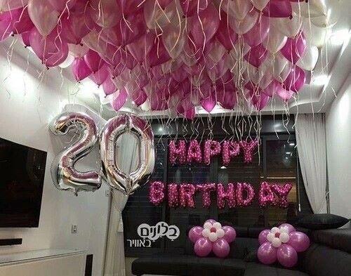 Happy Birthday Globos 20th Birthday Party Birthday Goals 20th Birthday