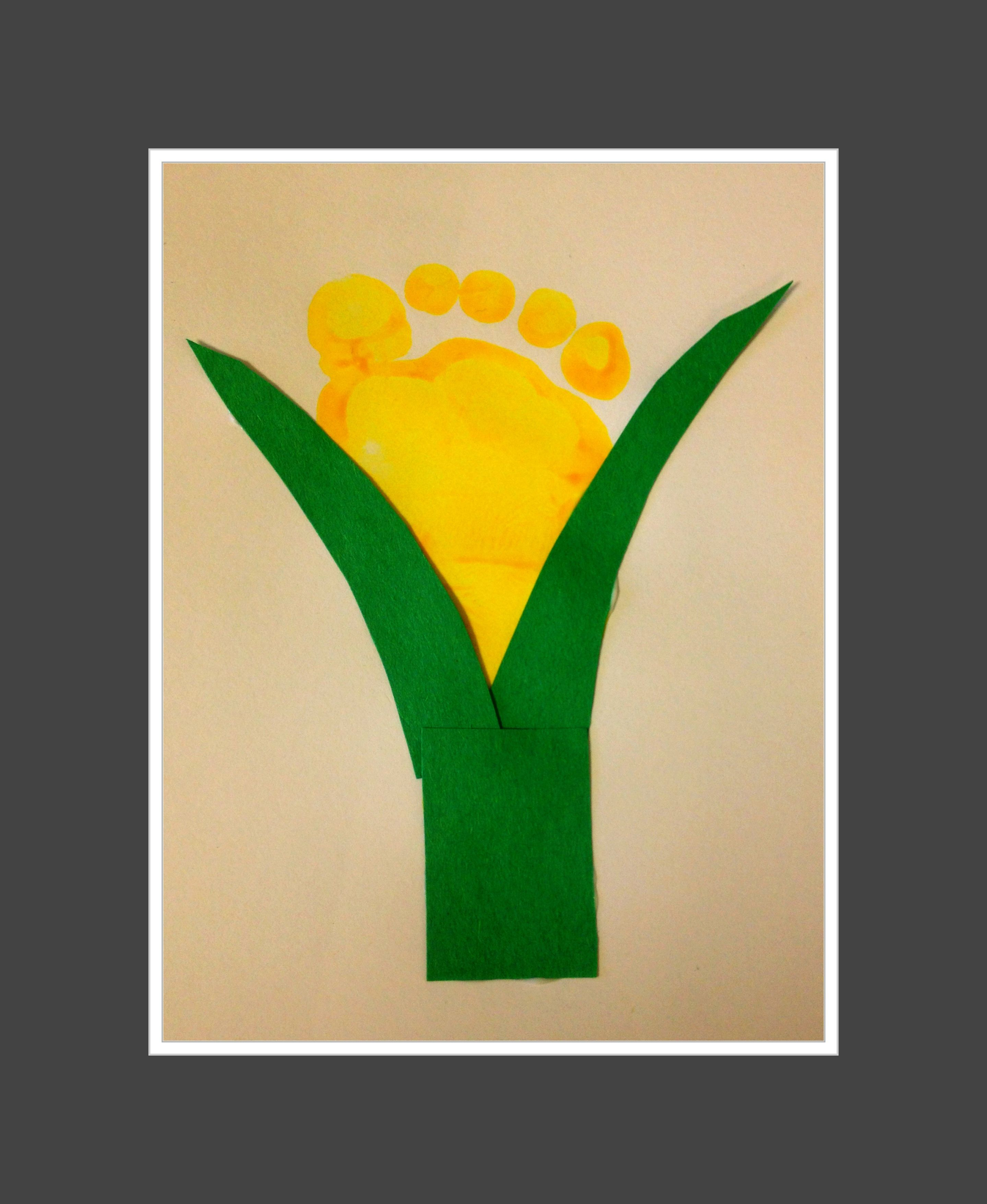 Baby corn footprint | Footprint Art | Pinterest | Footprints ...