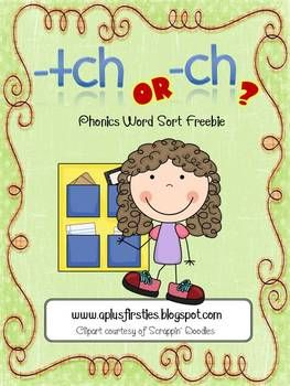 Final ch Sound Phonics Sort | A+ Classroom Teachers | Phonics