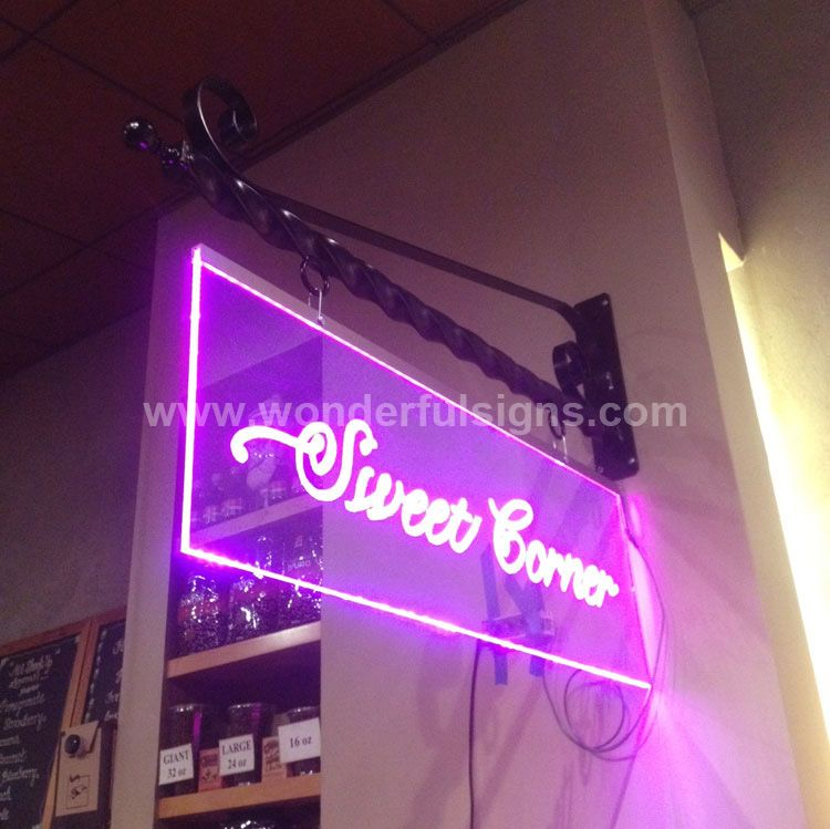 Led Edge Lit Acrylic Sign Projects We Did Led Signs