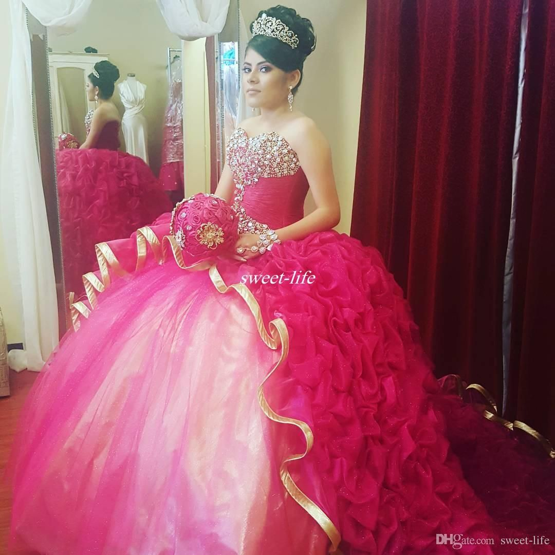 High Quality Ball Gown Quinceanera Dresses Girls Sweet 16 Party ...