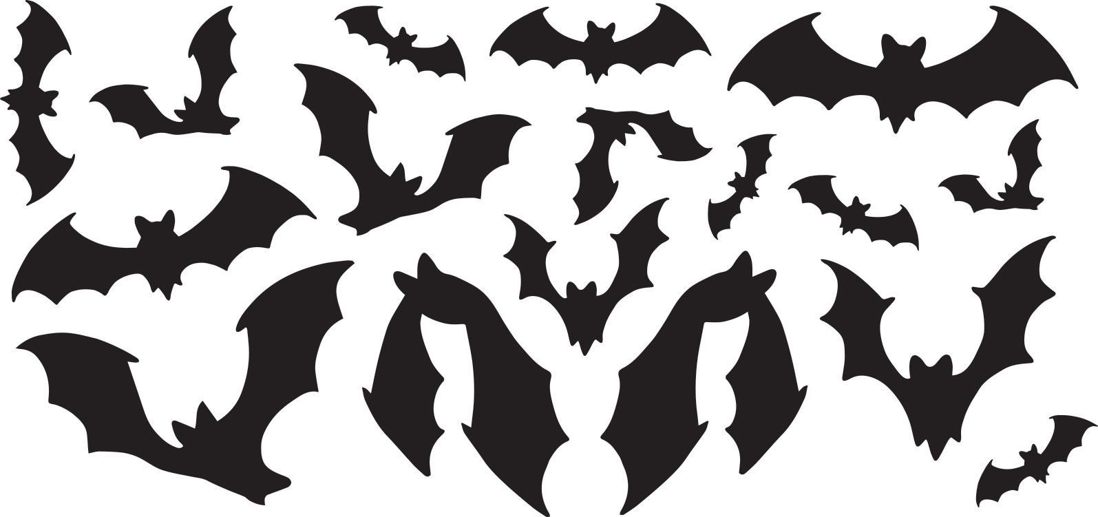 BATS! - Halloween - Halloween Decoration Vinyl Decal Stickers for - Window Halloween Decorations