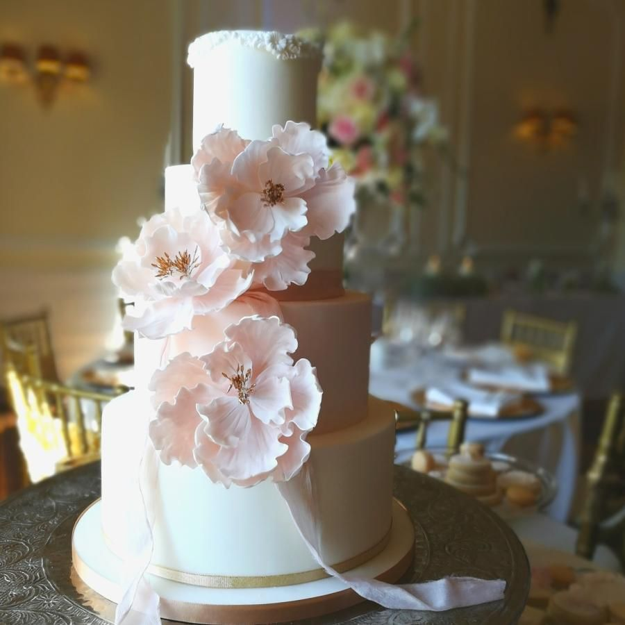 wedding cakes northern new jersey%0A Pretty in pink wedding cake by Sharon Sadie May Cakes  http   cakesdecor