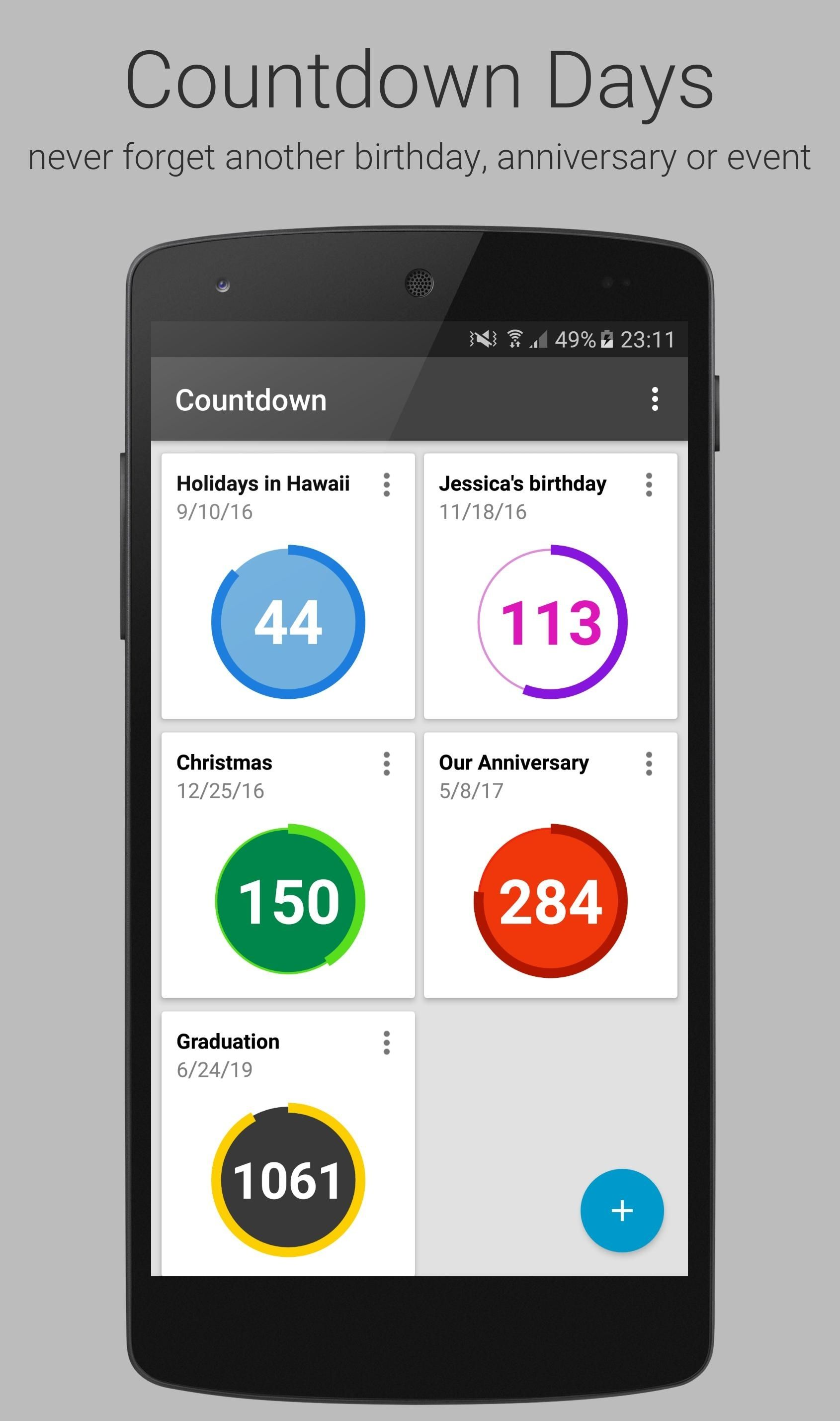 Countdown Calendar Widget Apk in 2020 Countdown calendar