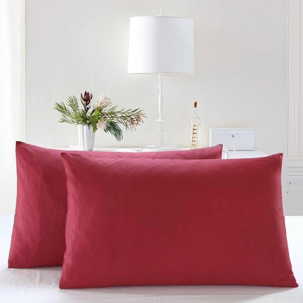 2 pieces Cotton Pillowcases - Solid Colors  Price: 10.00 & FREE Shipping  #homedecorloversfamilytangerang