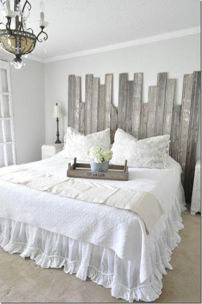 45 DIY Farmhouse Planked Headboard Design Ideas