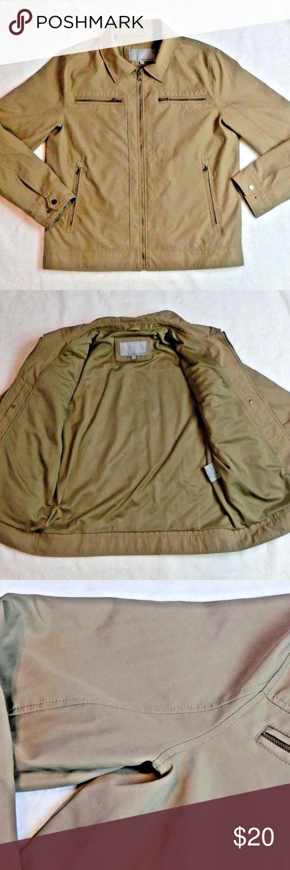 Wilsons Leather brown jacket w/ rabbit fur lining