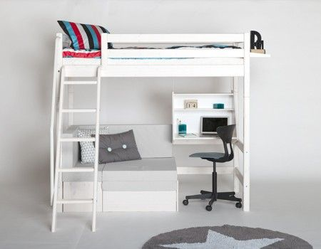 lovely loft bed with sofa component ingenious design. Black Bedroom Furniture Sets. Home Design Ideas