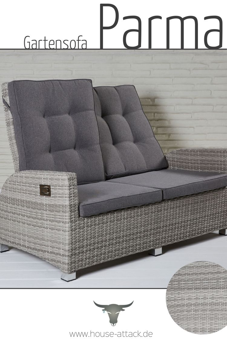 Lc Garden 2er Sofa Zweisitzer Parma Living White Grey 2er Sofa Gartensofa Lounge Garnitur