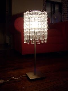 How To Make A Chandelier Tabletop Lamp With Images Table Top