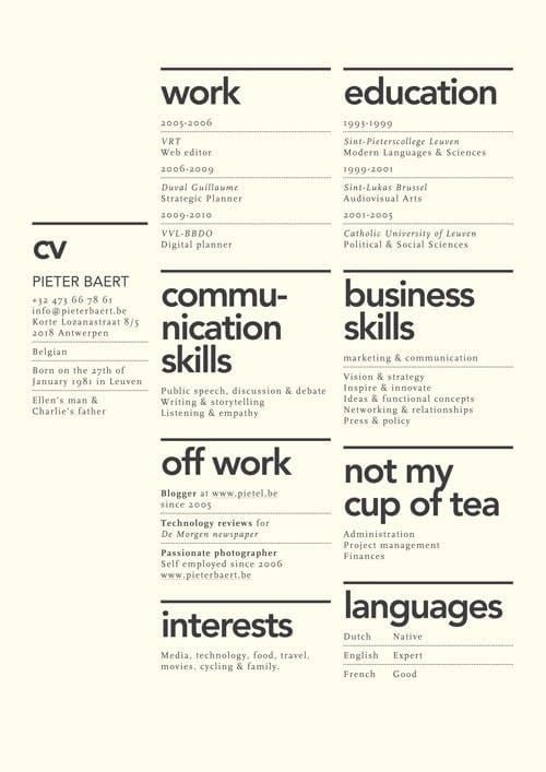 Beautiful Rsum Designs YouLl Want To Steal  Cv Design