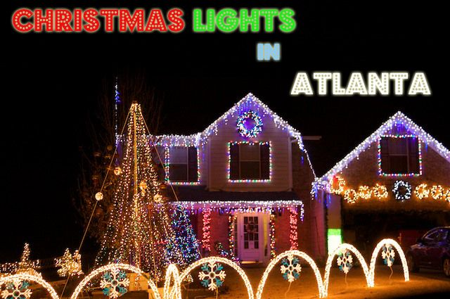 Homes with Christmas Lights Shows In Atlanta bundle up with hot coco ...