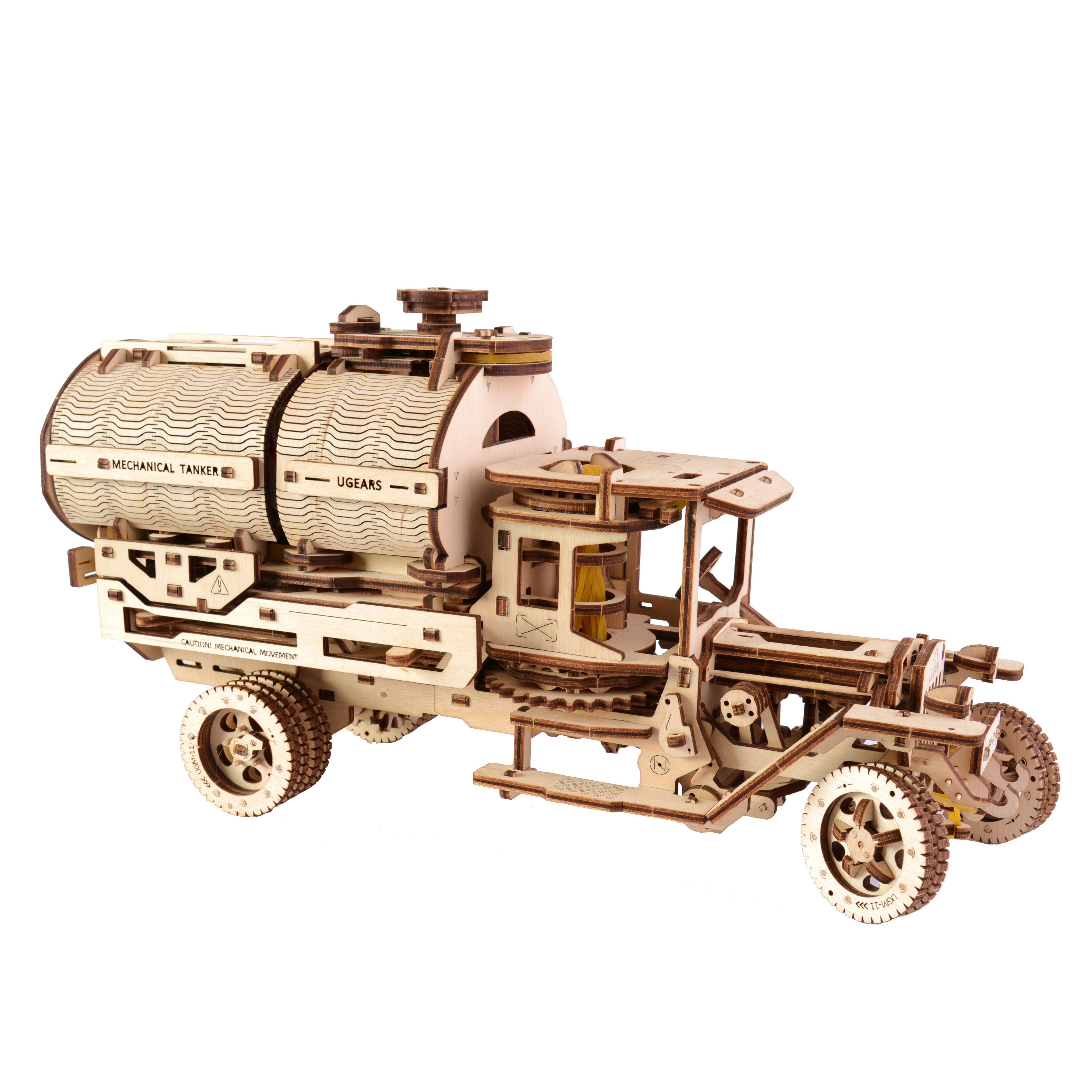 Ugears Plywood Tanker Truck Collectible Mechanical Model