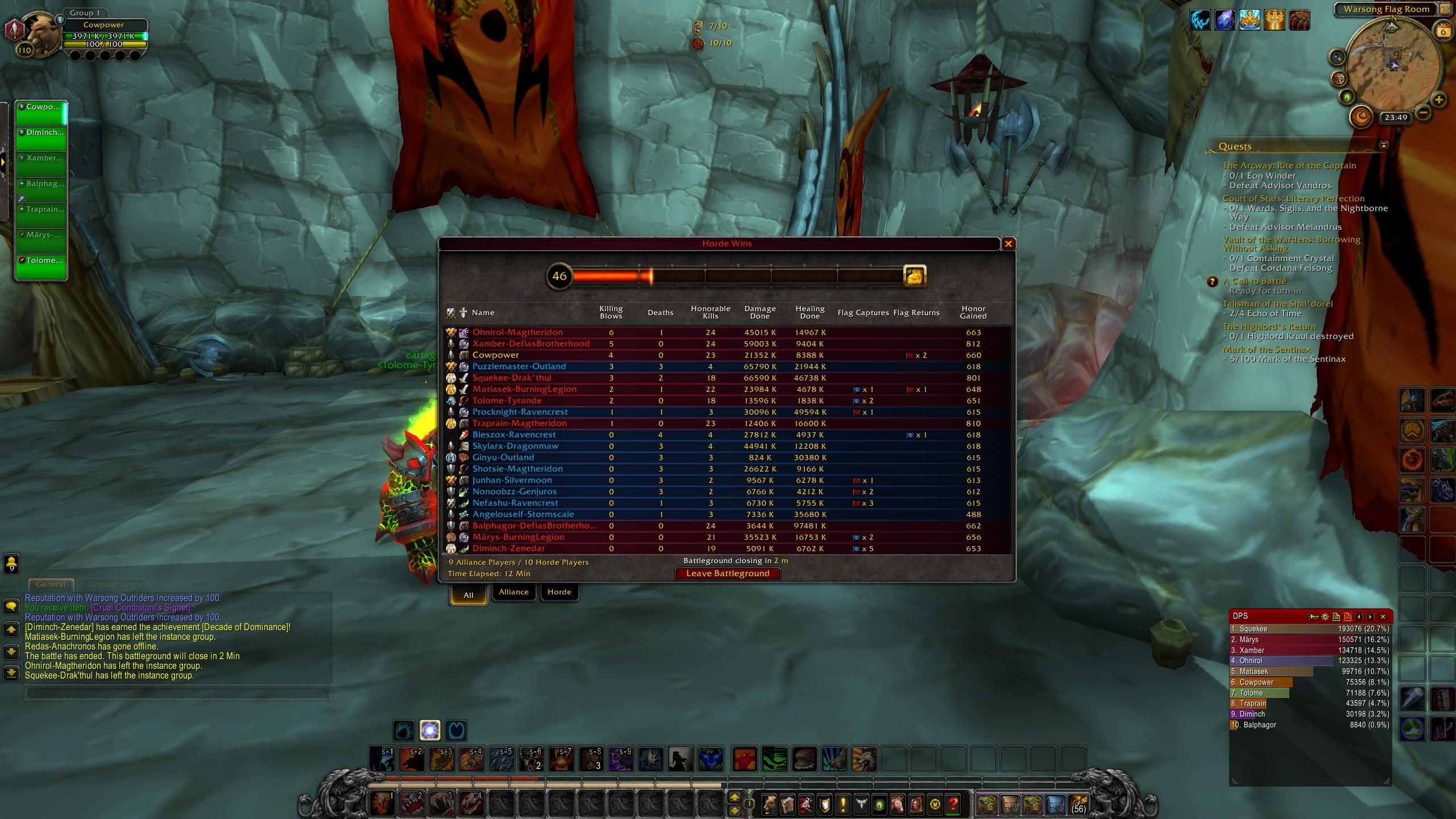 As someone who doesn't do much PvP because they are a tank and can never find a group because of that this may be my proudest BG moment #worldofwarcraft #blizzard #Hearthstone #wow #Warcraft #BlizzardCS #gaming