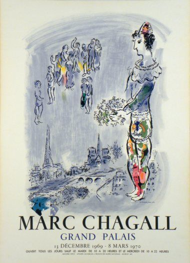 Plakate Marc Chagall Affiche Marc Chagall Poster Marc Chagall Title The Magician Of Paris Technology Color Lithography Charles S Marc Chagall Chagall Les Arts