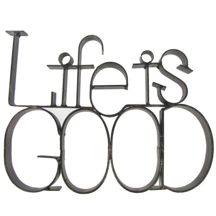 Life Is Good Metal Letter Decor