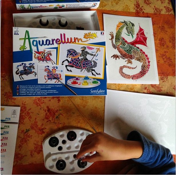 Aquarellum Dragons Taille Taille Unique Jeux Peinture