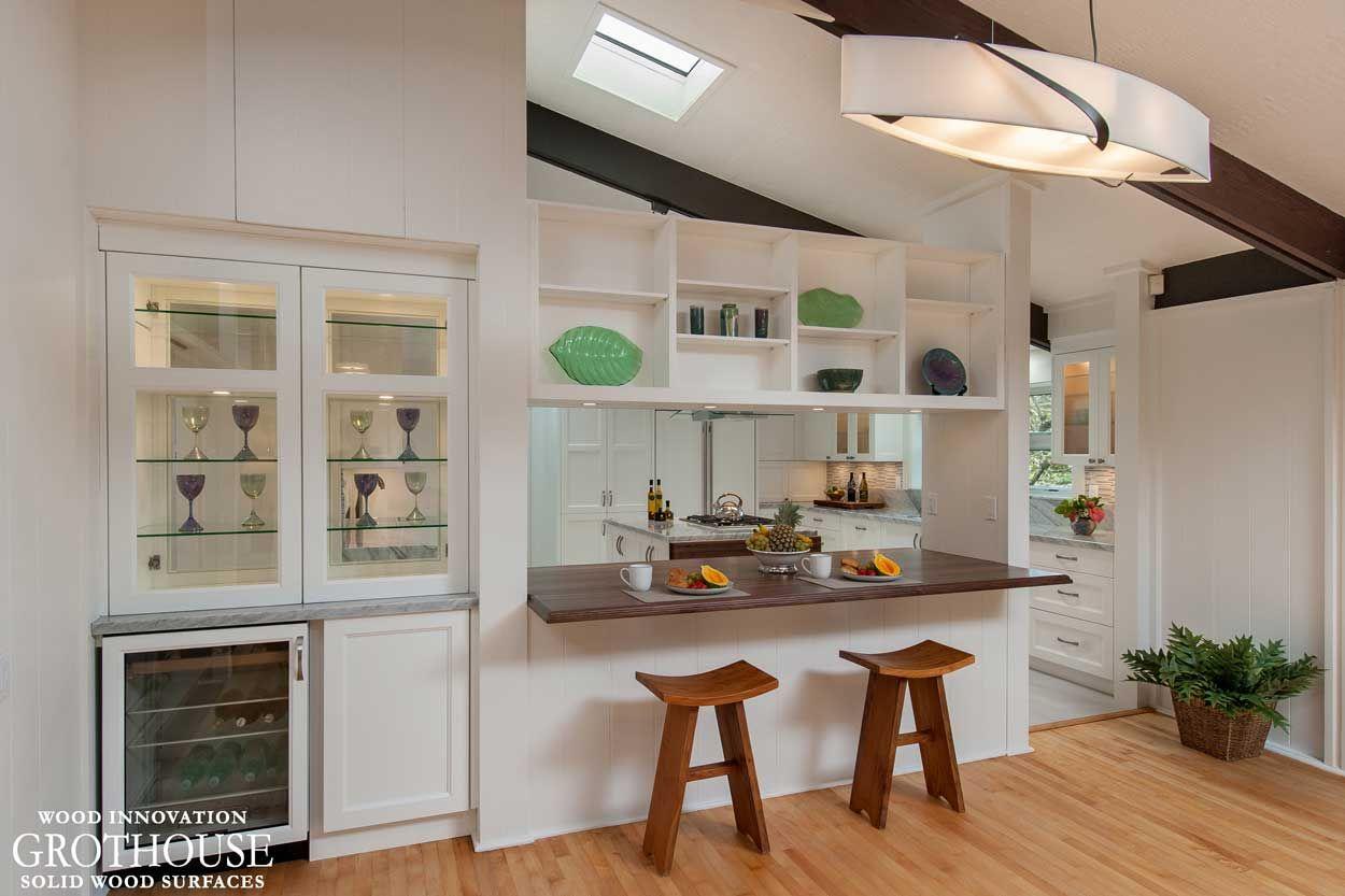 Kitchendesigninspiration Walnut With Sapwood Kitchen Bar Top Designed By Archipelago Hawaii Grothousething Kitchen Bar Kitchen Design Trends Kitchen Design