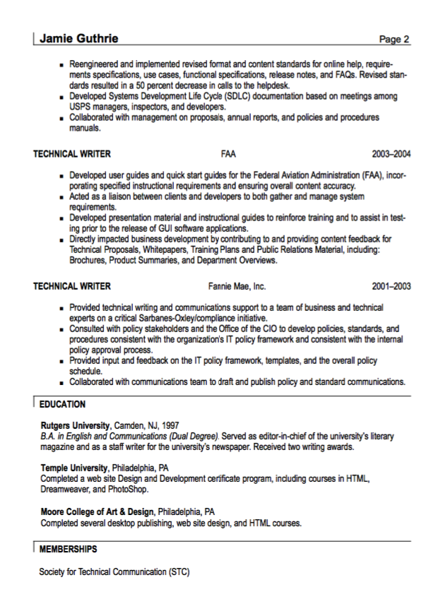 Technical Writer Resume Sample httpresumesdesigncomtechnical