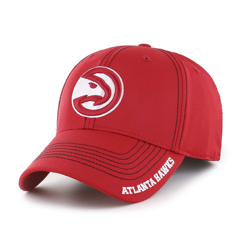 e82f737bf616 OTS NBA Atlanta Hawks Adult Start Line Center Stretch Fit Hat ...