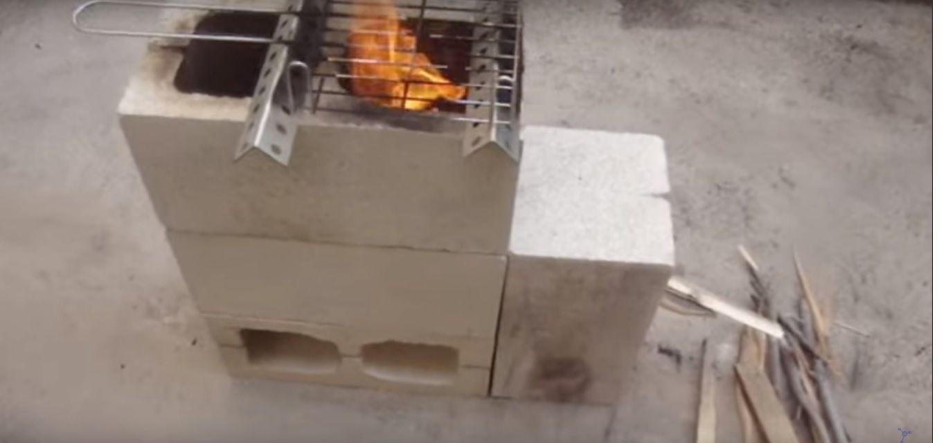 Cómo Hacer Una Cocina Casera Con 4 Bloques De Hormigón Bloque De Hormigon Casero Bloques De Cemento