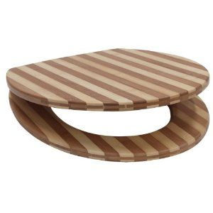 Schläfer 4637152 'Bambus' (Bamboo) Solid Wood Toilet Seat Real Wood Striped £40.02