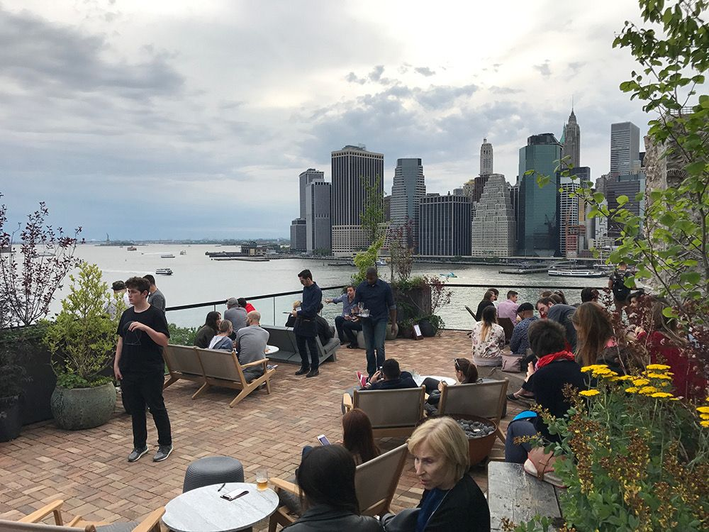 1 Rooftop At 1 Hotel Brooklyn Bridge 60 Furman Street Brooklyn Brooklyn Bridge Rooftop Nyc Trip