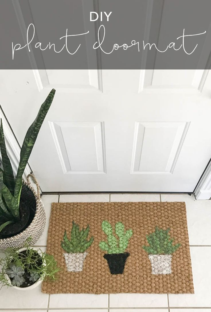 Diy Plant Doormat My Breezy Room