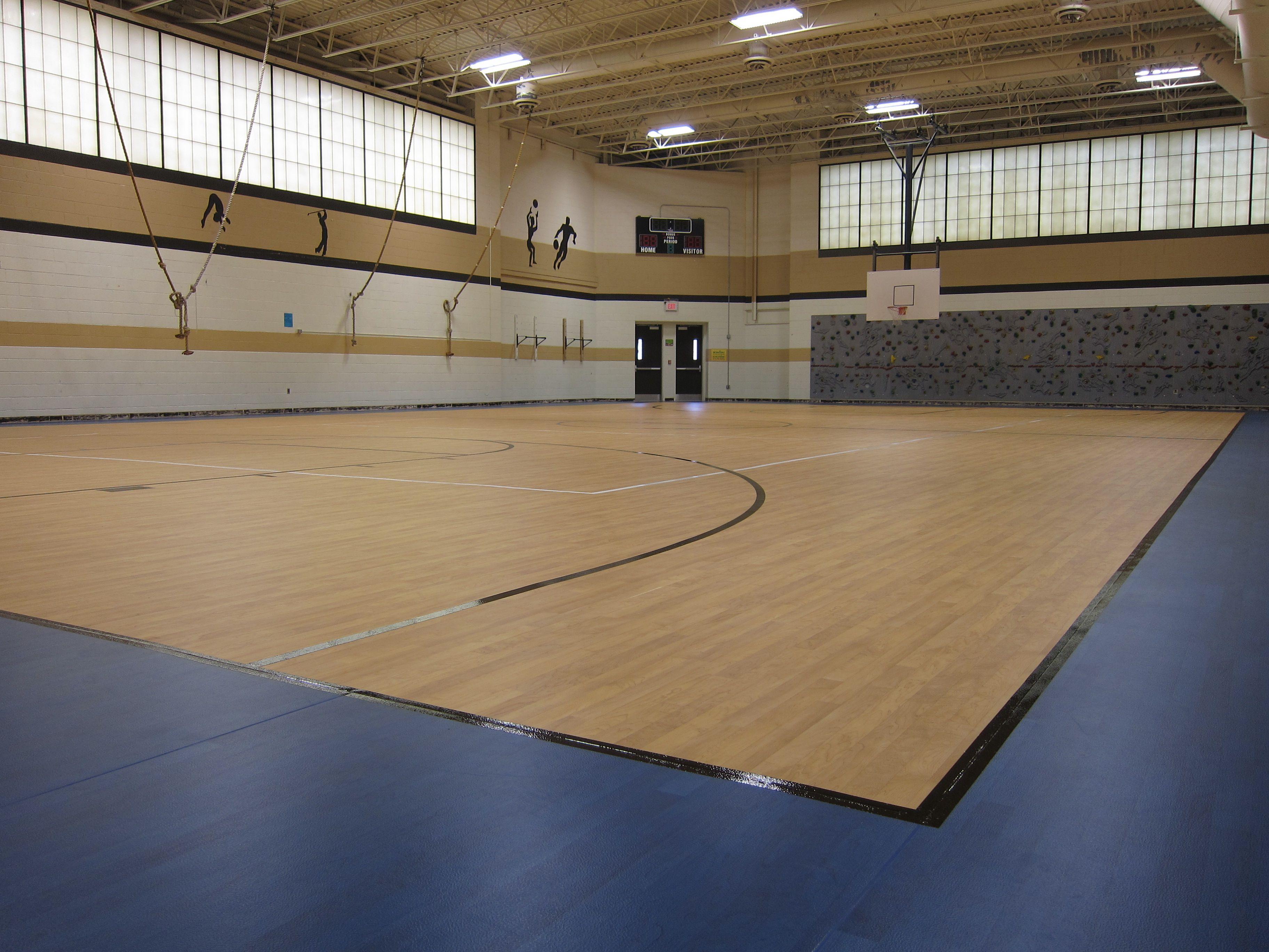 Tarkett Sports Omnisports 8 3 In Maple And Blue Maple Sports Indoor Sports Indoor