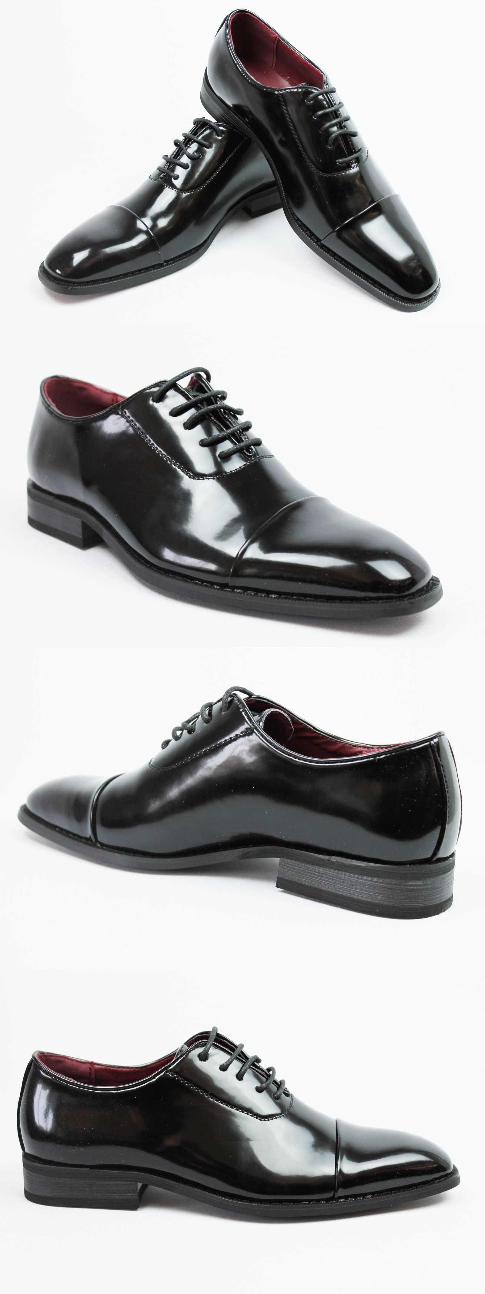 8faa1aa27a7c Dress Formal 53120  New Mens Dress Tuxedo Formal Shoes Cap Toe Patent  Leather Lace Up Oxfords New -  BUY IT NOW ONLY   39.99 on eBay!