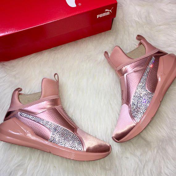 the latest aa408 9b099 NEW Kylie Jenner Bling Custom Puma Fierce Copper Velvet Rope