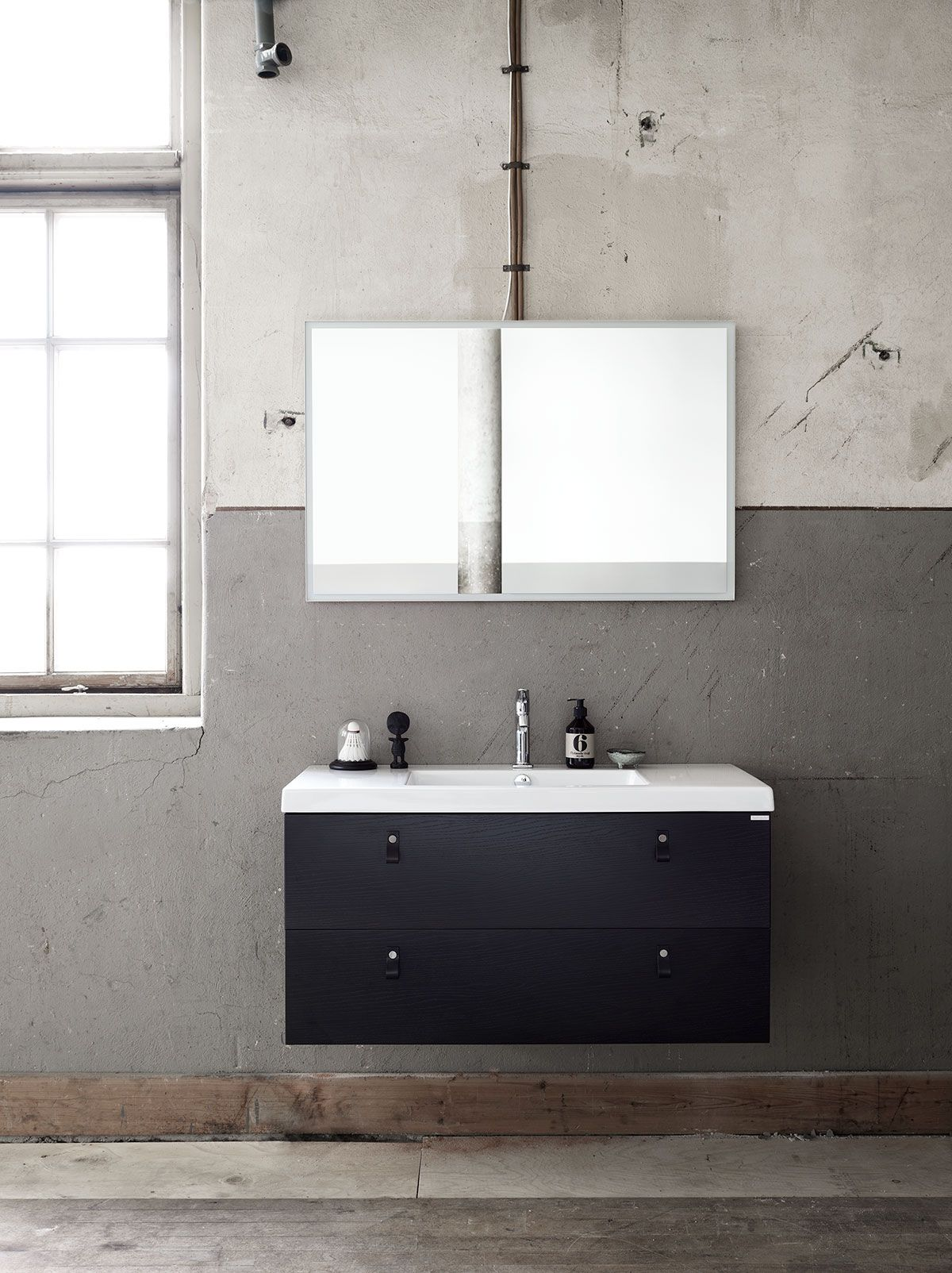 Bathroom inspiration Bathroom furniture with open shelves Bright B A T H R O O M