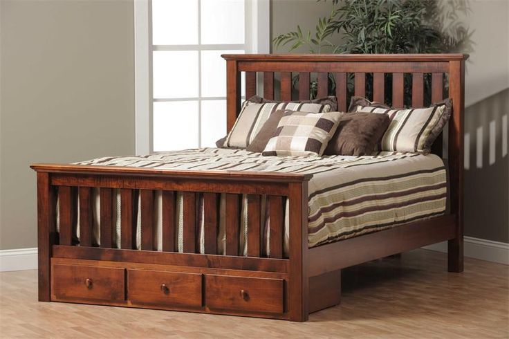 Amish Traditional Slat Bed