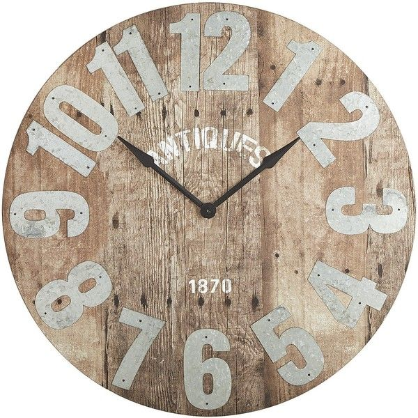 Pier 1 Imports Natural Aged Wall Clock Rustic Wall Clocks Affordable Farmhouse Decor Country House Decor