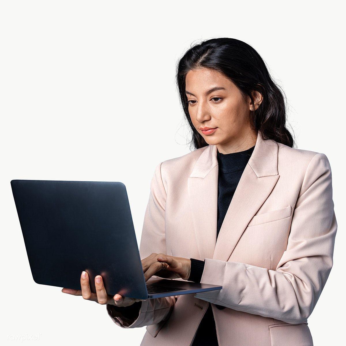 Businesswoman Using A Laptop Transparent Png Premium Image By Rawpixel Com Teddy Rawpixel Business Women Png Victorian Men
