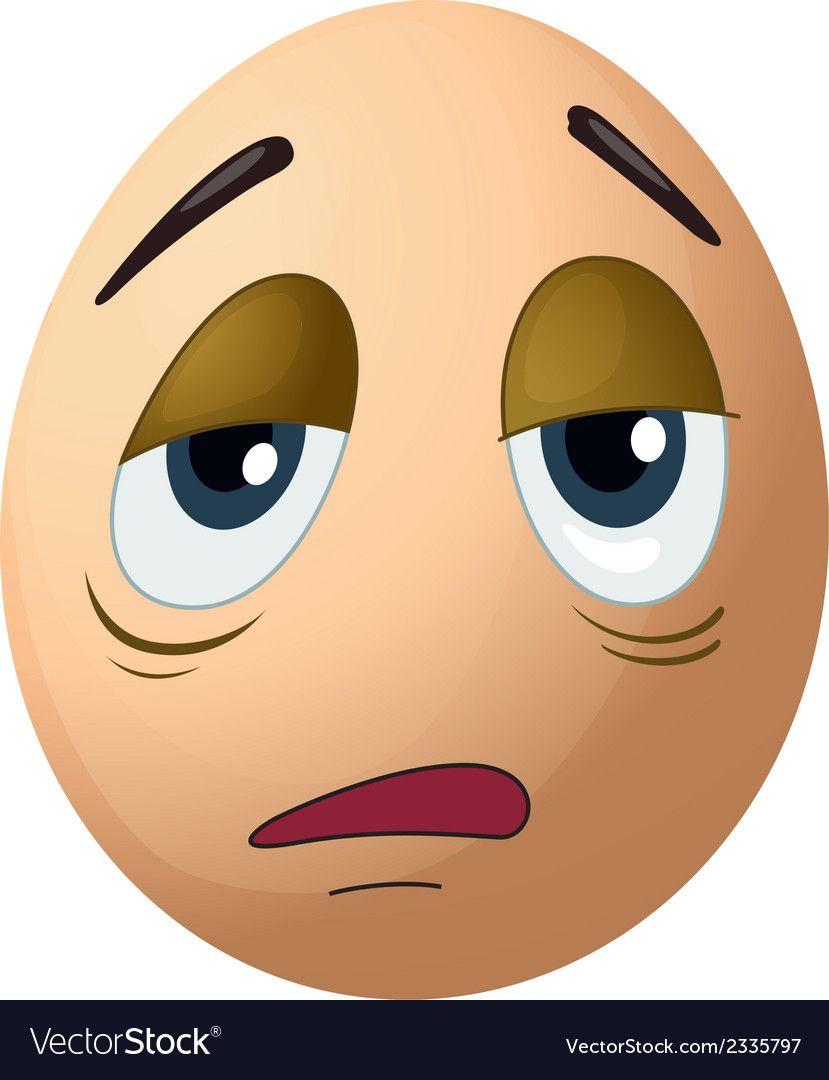 A sad egg vector image on VectorStock