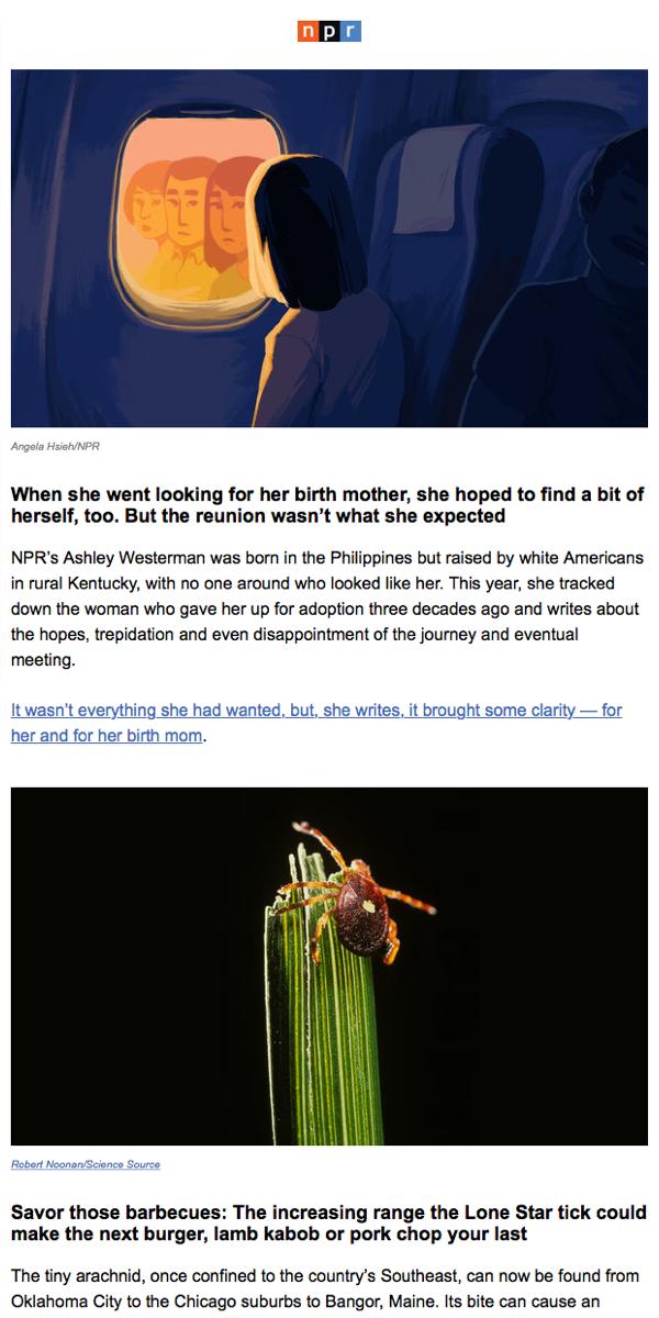 Unsubscribe from Best of NPR NPR Best, Newsletters
