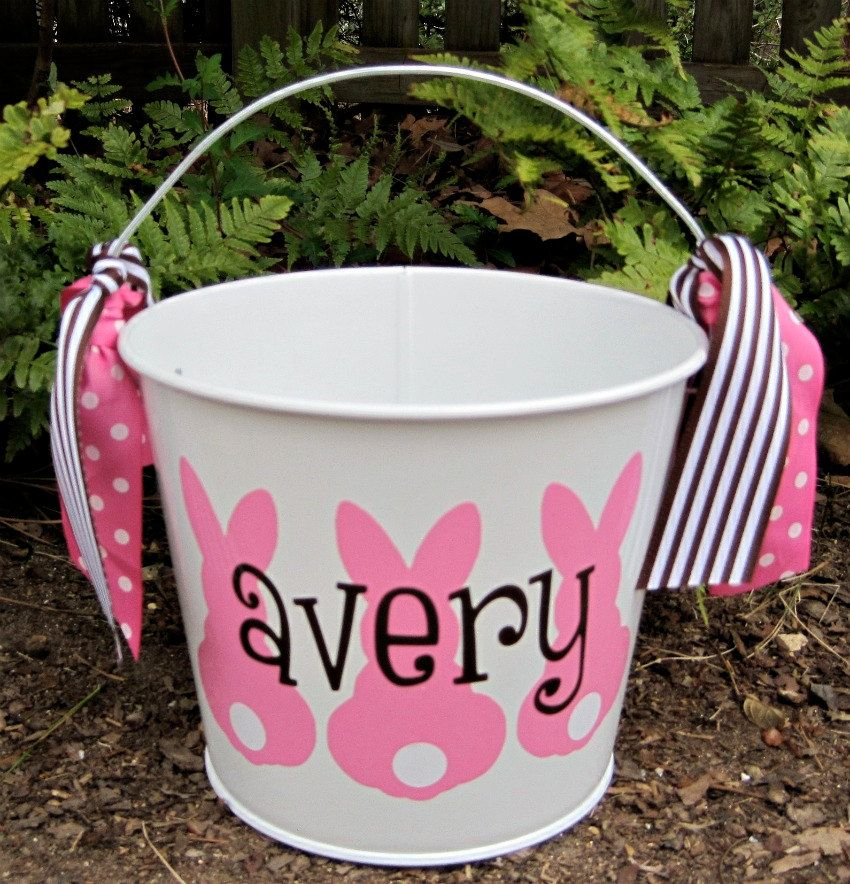personalized easter bucket assorted colors