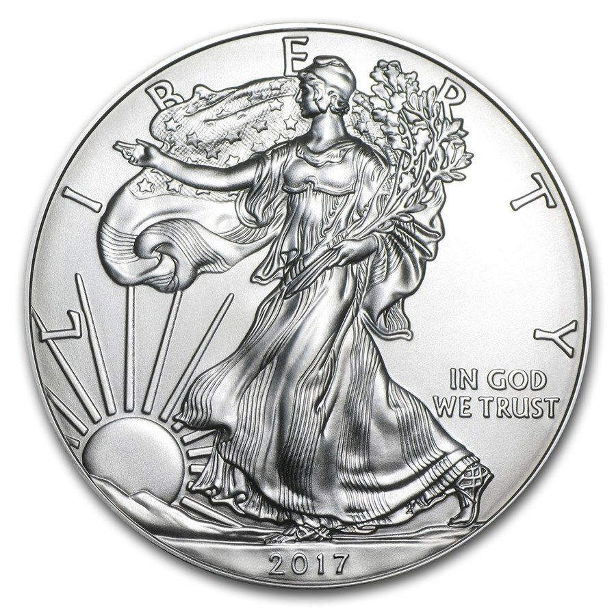 2017 1 Oz Silver American Eagle Bu Monedas 1 Oz Billetes