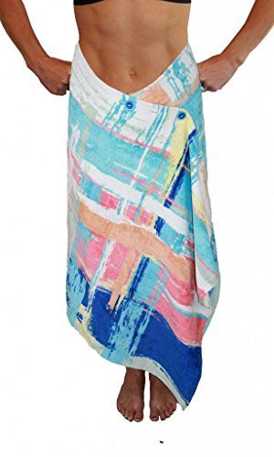 eadb2f6532 Simple Sarongs Women's Beach Towel Swimsuit Cover-up Wrap One Size  Watercolors Multi ** Continue to the image link. Amazon Affiliate Program's  Ads.