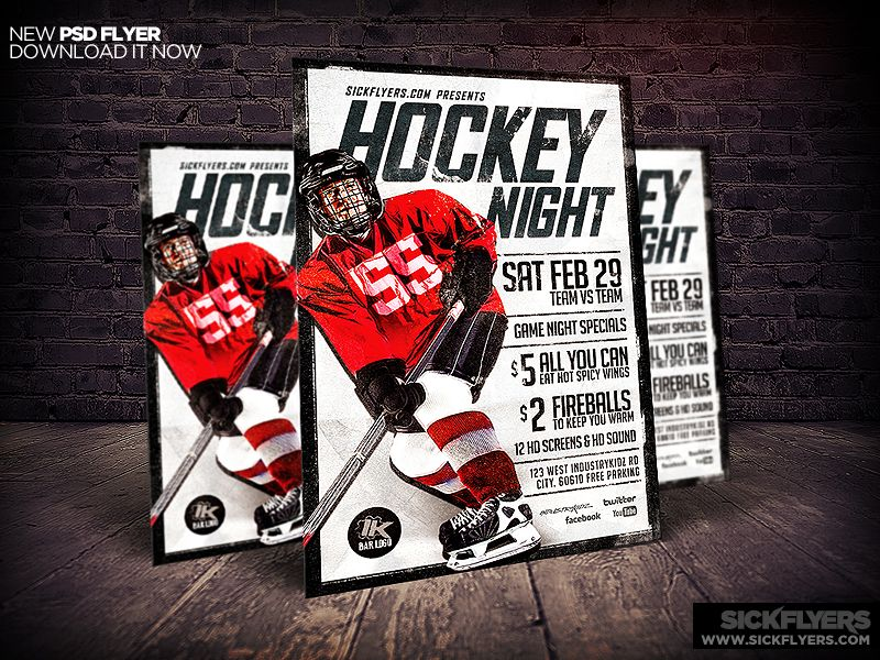 Hockey flyer template psd flyer template ice hockey and template hockey flyer template psd maxwellsz